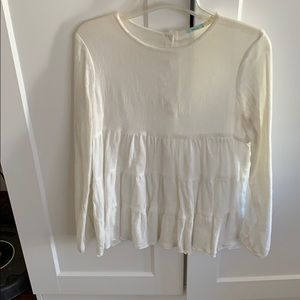 Urban Outiftters white gauze blouse